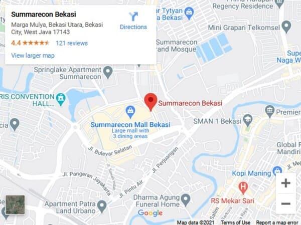 map-summarecon-bekasi