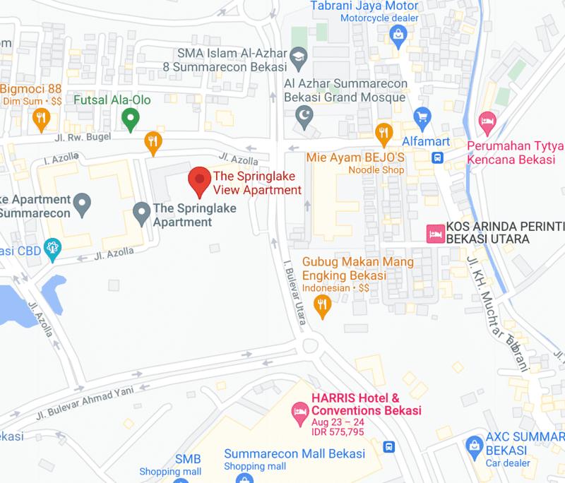 maps-springlake-apartement-bekasi
